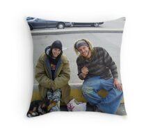 Happy Travelers Throw Pillow