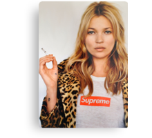 Kate Moss for Supreme Media Cases, Pillows, and More. Metal Print