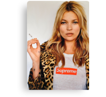 Kate Moss for Supreme Media Cases, Pillows, and More. Canvas Print