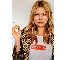 Kate Moss for Supreme Media Cases, Pillows, and More. Photographic Print