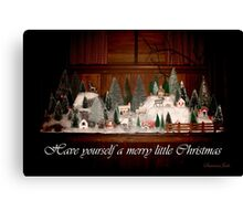 Old Fashioned 1940s Christmas Village Canvas Print