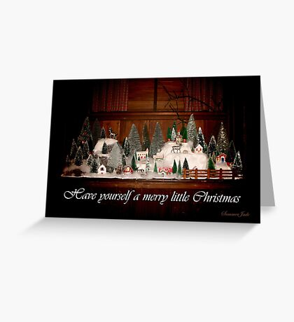 Old Fashioned 1940s Christmas Village Greeting Card
