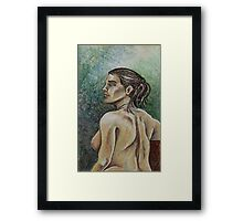 Torso of the Female Nude (Mixed Media)- Framed Print