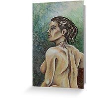 Torso of the Female Nude (Mixed Media)- Greeting Card