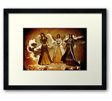 Peace on Earth Is Grungy Work Framed Print