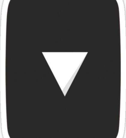 Black YouTube Play Button - Vertical Sticker