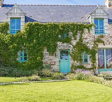 A Cottage in Beganne, Brittany, France by Elaine Teague