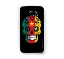 Sugar Skull with Roses and Flag of Cameroon Samsung Galaxy Case/Skin