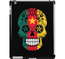 Sugar Skull with Roses and Flag of Cameroon iPad Case/Skin