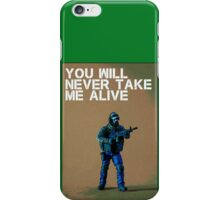 You'll never take me alive, by Tim Constable iPhone Case/Skin
