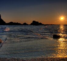 Corbiere Lighthouse Causeway by Mark Bowden