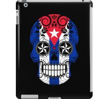Sugar Skull with Roses and Flag of Cuba iPad Case/Skin