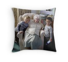 five generations gap Throw Pillow