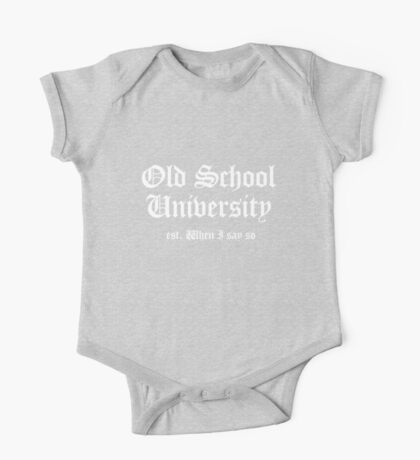Old School University One Piece - Short Sleeve