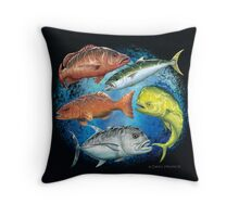Mixed Fish Throw Pillow