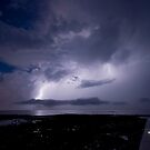 Lightning display, Cleveland Point by Alan Gamble