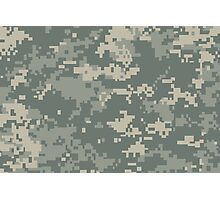 Army ACU Camouflage Photographic Print