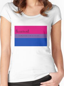 Bisexual Women's Fitted Scoop T-Shirt