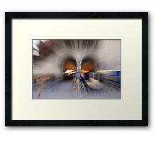 Impressions of Cracow - Cloth Hall arcade and carriage Framed Print