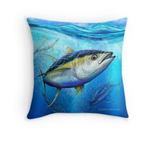 Yellowfin Tuna - Out of the Blue Throw Pillow