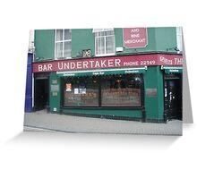 Bar undertaker Greeting Card