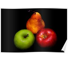 Pear & Apples Poster