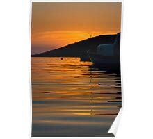 Still water sunset Poster