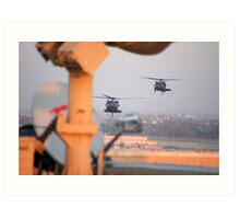 Blackhawks In Baghdad Art Print