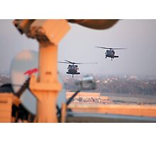 Blackhawks In Baghdad Photographic Print