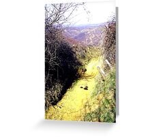 Heading for the Ravine in Barda, Romania Greeting Card