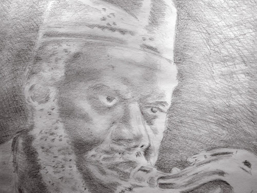 Pharoah Sanders by Charles Ezra Ferrell