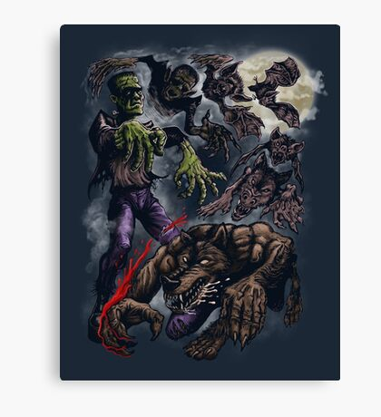 MONSTER CYCLE Canvas Print