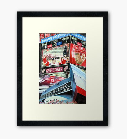 Steve Yzerman- Detroit Redwings Framed Print