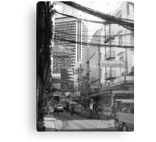 Overloaded Thailand Streetscape Metal Print