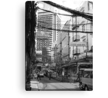 Overloaded Thailand Streetscape Canvas Print