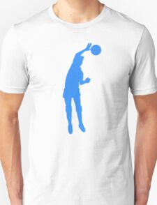 Blue Volleyball Spike Silhouette T-Shirt