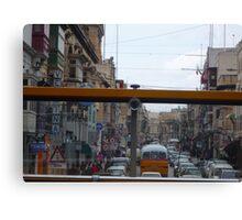 Maltese Street through the eyes of a bus! Canvas Print