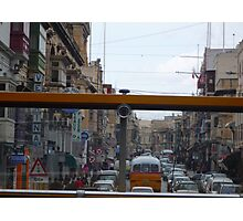 Maltese Street through the eyes of a bus! Photographic Print