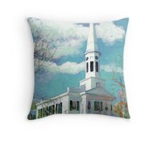 Church in New Canaan Connecticut Throw Pillow