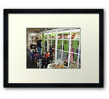 Sheffield DOLL museum overflowing with glorious teddies, dolls and HISTORY!!!! Framed Print