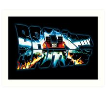 Back to the Future-Time travel Art Print