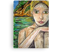 Monoprint Girl Canvas Print