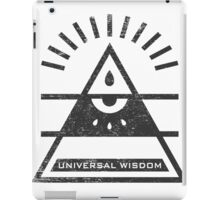 Universal Wisdom - Typography and Geometry iPad Case/Skin