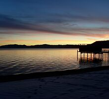 Sunset over Lake Tahoe by Angela Millear