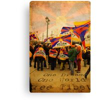 Standin on the Bridge for A Free Tibet Canvas Print