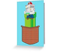 pocket mario Greeting Card