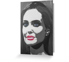 Portrait  of a tough woman (black and white Greeting Card