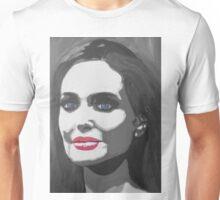 Portrait  of a tough woman (black and white Unisex T-Shirt