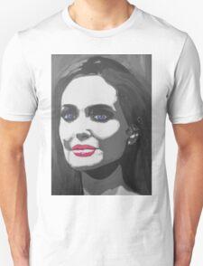 Portrait  of a tough woman (black and white T-Shirt