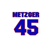 National baseball player Butch Metzger jersey 45 Photographic Print